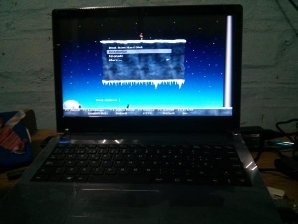 nueva notebook linux